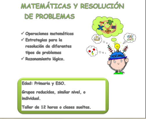 MATEMÁTICAS Y RESOLUCIÓN DE PROBLEMAS